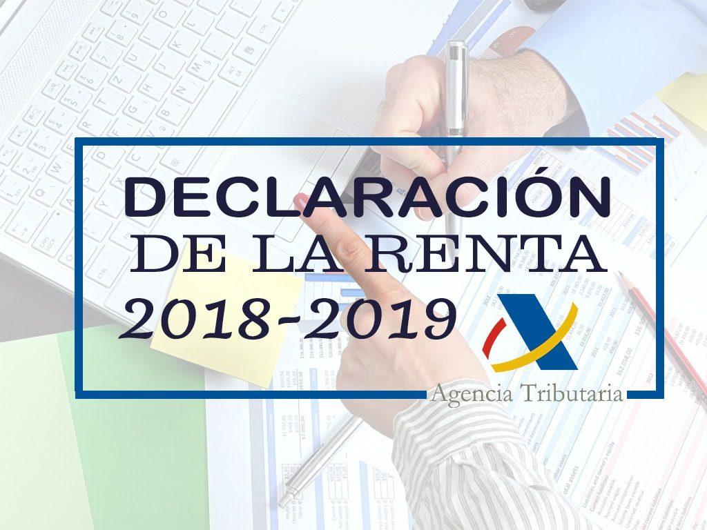 campaña declaracion renta 2018 - 2019